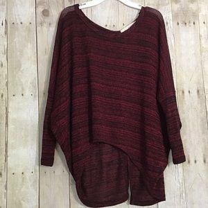 NWOT Semi-Open Back Sweater With Buttons